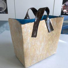 Excited to share the latest addition to my #etsy shop: Handmade ceramic vase in a shape of tote bag https://etsy.me/2qSeExv #housewares #vase #beige #birthday #valentinesday #blue #livingroom #ceramicbag #ceramichandbag #fashionable #modernvase #contemporaryceramics