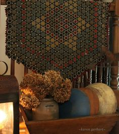 antique penny rug
