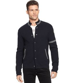 Armani Jeans Sweater, Button Front Cardigan - Mens Sweaters - Macy's