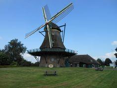 The windmill Monnikenmolen in the village of Sint Jansklooster not far from Giethoorn