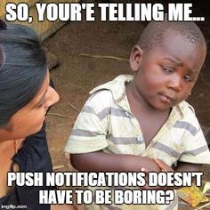 Creative android push notifications