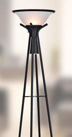 Floor Lamps Menards: Beautifully crafted floor lamp includes a downward bulb to illuminate the  shelves below. ...,Lighting