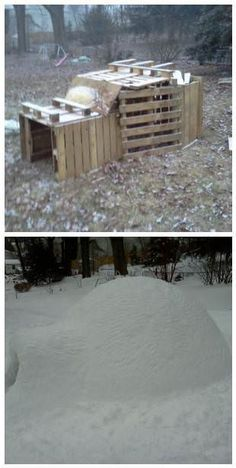 Here is a nice before/after. Pallets can be used for anything :-)