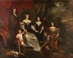 Family with Group A Children with Emblems of the Cardinal Virtues  by Flemish School