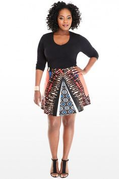 0f8c70aa56b7 Kayla Tribal Scuba S Curvy Fashion