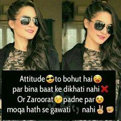 Positive Attitude Quotes, Funny Attitude Quotes, Attitude Quotes For Girls, Crazy Girl Quotes, Funny Girl Quotes, Girl Attitude, Cute Love Quotes, Girly Quotes, Sassy Quotes