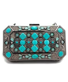Mary Frances Turquoise Clutch Handbag at Maverick Western Wear