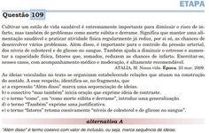 print screen da questão 109 do enem de 2011