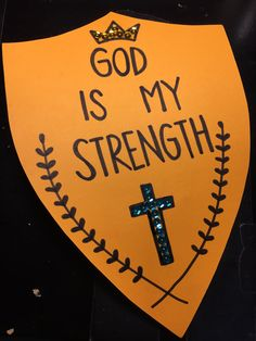 God is my strength & shield. bible lessons for kids, bible for kids, Bible Crafts For Kids, Bible Lessons For Kids, Vbs Crafts, Church Crafts, Preschool Lessons, Camping Crafts, Kids Bible, Sunday School Lessons, Sunday School Crafts