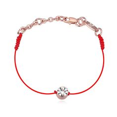 Austrian Crystals jewelry thin red thread string rope Charm Bracelets & bangles for women Fashion New sale Top Hot summer style