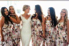 Floral bridal party dresses