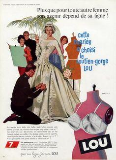 Fine Publicite Advertising 014 1961 Lou Jeune France Soutien Gorge Collectibles