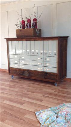 Neues Leben für die alten Postfächer❤️ Liquor Cabinet, Storage, Furniture, Home Decor, New Life, Homemade, Deco, Purse Storage, Decoration Home