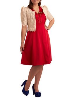 Beguiling Beauty Dress in Red - Plus Size