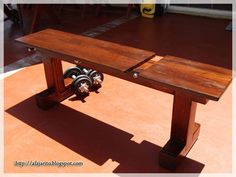 Weight Bench (5 position,Flat/Incline) doubles as Patio Bench - English