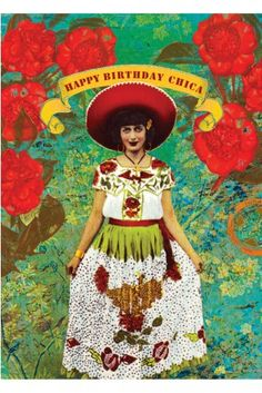 PAPAYA! Art Chica 5x7 Card - Birthday - Occasions - Papaya!
