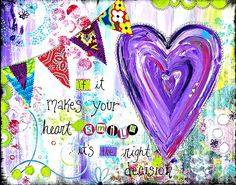 If it makes your heart smile art journal page Heart Journal, Journal 3, Journal Quotes, Creative Journal, Creative Cards, Journal Ideas, Bullet Journal, Art Journal Pages, Art Journaling