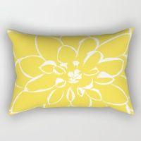 Dahlia Buttercup Rectangular Pillow