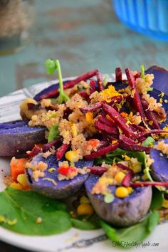 How to Embrace Imperfection & Warm Superfood Quinoa Salad with Maple Orange Dressing