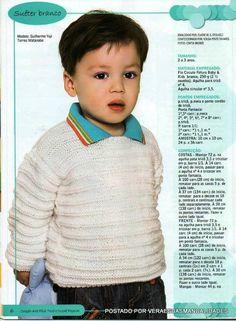 Receita de Tricô: Suéter infantil em tricô