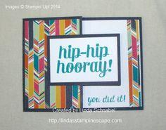 Half fold front card using Stampin' Up! Bravo stamp set.  Full details on my blog:  http://lindasstampinescape.com