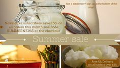 Summer sale- grab yourself a bargain. Sign up to our newsletter and save 15% off your order.  You won't find a UK fermenting website that has more info, knowledge or tips. Kombucha Drink, Probiotic Drinks, Water Kefir, Vegan Yogurt, Summer Sale, Brewing, Knowledge, Milk, Organic