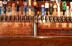 Beer on tap at our bar