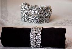 DIY Metallic Crochet Bracelet