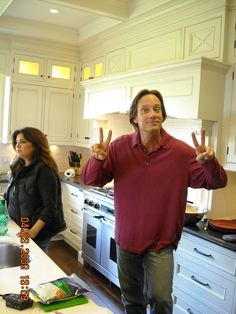 """Kevin Sorbo after his haircut on the set of """"Cooking With Celebrities"""""""
