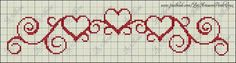 This Pin was discovered by Deb Cross Stitch Boarders, Just Cross Stitch, Cross Stitch Heart, Simple Cross Stitch, Cross Stitch Designs, Cross Stitching, Cross Stitch Embroidery, Cross Stitch Patterns, Graph Paper Art