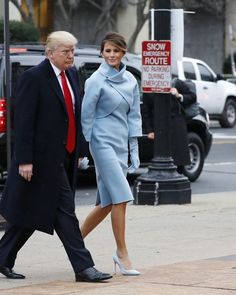 Here comes the first lady #MelaniaTrump in pastel blue #RalphLauren for the #Inauguration day. What do you think?  via VOGUE THAILAND MAGAZINE OFFICIAL INSTAGRAM - Fashion Campaigns  Haute Couture  Advertising  Editorial Photography  Magazine Cover Designs  Supermodels  Runway Models