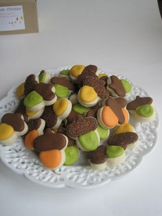Cute cookie acorns for a Autumn Luncheon!!