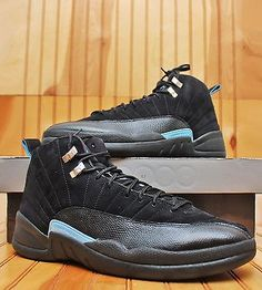 2009 Nike Air Jordan Retro 12 XII Size 12 -Nubuck University Blue-130690 018