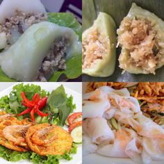 1. Bánh Giò 2. Bánh Ít Dừa 3. Bánh Cóng 4. Bánh Ướt - Just tell me which number you want to taste right now? ❤️  Advice from www.vietnamesefood.com.vn Vietnamese Pho, Vietnamese Recipes, Shrimp, Chinese, Yummy Food, Foods, Cooking, Food Food, Kitchen