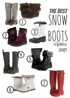 The best winter snow boots for women 2015 - Julieverse Best Snow Boots Woman, Boots For Snow, Boots For Winter, Snow Boots Outfit, Black Snow Boots, Snow Boots Women, Winter Wear, Autumn Winter Fashion, Fashion Spring