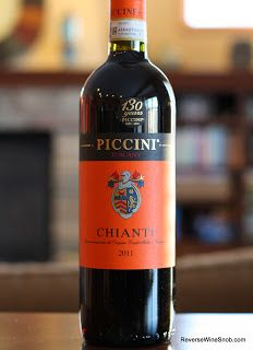 Piccini Chianti 2011 - $8 Italian Reds Wine #2 Plus Free Shipping from Marketview Liquor. The Uncomplicated Life.
