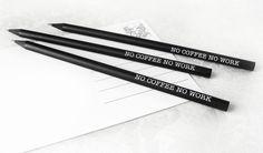 Bleistift-SET 'no COFFEE no WORK' von cute as a button auf DaWanda.com