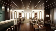 Crystal restaurant in Hungary, Győr city. Luxury modern interior with sweet ambient. Bar area.