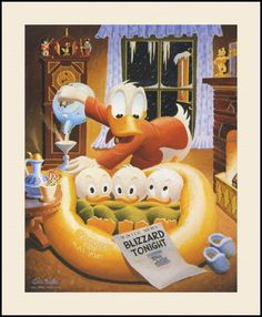 Carl Barks — Blizzard Tonight — © Walt Disney Company