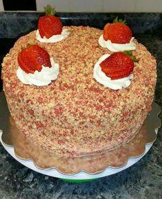 Strawberry Shortcake Cheesecake Recipe With Oreos.Strawberry Shortcake Cheesecake Copy Me That. Strawberry Shortcake Cheesecake I Heart Recipes. No Bake Strawberry Shortcake Dessert Recipe Summer . Köstliche Desserts, Delicious Desserts, Yummy Food, Strawberry Shortcake Cheesecake, Strawberry Crunch Cake, Good Humor Strawberry Shortcake Recipe, Strawberry Cheesecake Cake Recipe, Strawberry Recipes, Savoury Cake