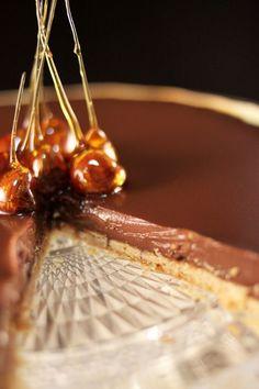 Chloé Délice: Tarte au chocolat {et son décor au caramel}