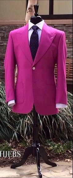 A fabulous magenta fresco blazer.
