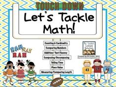 Touchdown Time! Let's Tackle Math! CCSS aligned with 10 math activities- download the preview file for a FREEBIE!