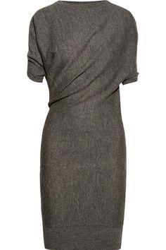 Lanvin | Draped alpaca and wool-blend dress | NET-A-PORTER.COM