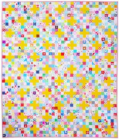Scrappy Cross Quilt - Tutorial Available - © Red Pepper Quilts 2020 Lap Quilts, Scrappy Quilts, Cross Quilt, How To Finish A Quilt, Hexagon Quilt, Fabric Squares, English Paper Piecing, Vintage Quilts, Quilt Tutorials