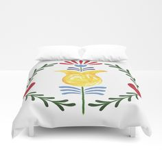 Folk Duvet Cover