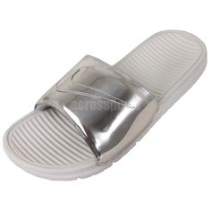a008d5e266c89 Nike Benassi Solarsoft Slide SP Liquid Metal Silver Fashion Slippers NSW  Limited http