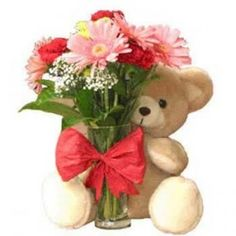 Flower vase and teddy available for Mumbai delivery. Secured online gifts delivery to Mumbai. Assured door step gifts delivery to all location in Mumbai.   Visit our site : www.mumbaiflowersdelivery.com/flowers/sorry-flowers.html