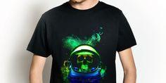 #space #astronauta #spazio #teschio #skull #death #colors