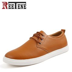 Fashion High Quality PU Leather Men Casual Shoes Lace-Up Oxfords Mens Shoes  New Brand 46484e75fc31